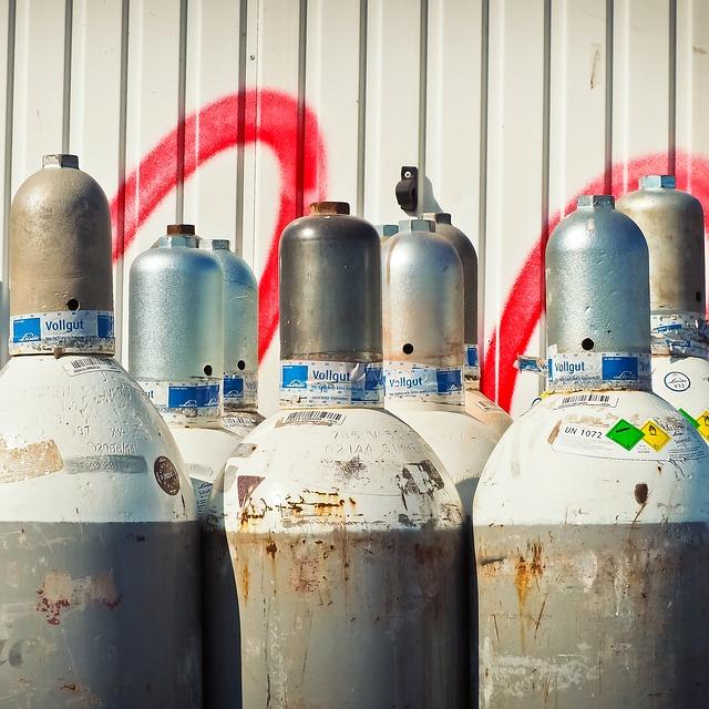Gasflasche lagern